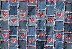 I have made some rag quilts and they are super easy! This is the first one I ever made:  I made this using denim from my husbands & sons ol...