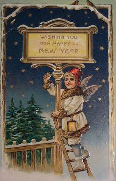 Vintage wenskaart met het nieuwe jaar (vintage Nieuwjaarskaarten). Discussie over LiveInternet - Russische Dienst Online Diaries