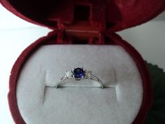 CERTIFIED 1.00 ct ROUND SAPPHIRE LAB CREATED DIAMOND WITH 14K WHITE  GOLD RING #DiscoverDiamond #ThreeStone