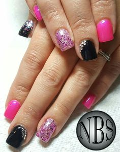Acrylic Nails Ive Done Gelaze And Artistic Brand Gel Polish Custom Glitter