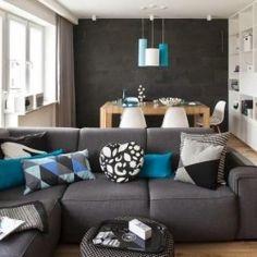 ne peindre qu'un pan de mur pour donner une note de couleur et de ... - Wohnzimmer Einrichten Ideen Modern