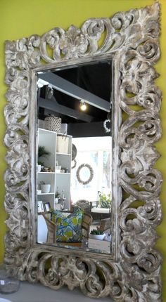 In Stock - Antiqued Mirror - Inside Out Home Boutique - Please check stock availability Decor, Vanity Mirror, Vanity, Home Decor, Mirror