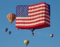 Hot Air Balloon Rides in Des Moines - Indianola Iowa with Iowa's Balloon Ride Company! Balloon Rides, Hot Air Balloon, Air Ballon, Star Spangled Banner, 4th Of July Celebration, Let Freedom Ring, Home Of The Brave, Above The Clouds, Globes