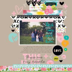Illustrated Faith You Are Loved Collection | These Are My People Digital Layout by Megan Klauer