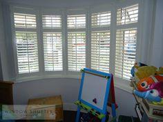 Bay window shutter for children's playroom