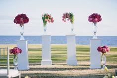 Love this ceremony decor!