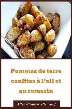 Pommes de terre confites à l'ail et au romarin – Toutes Recettes