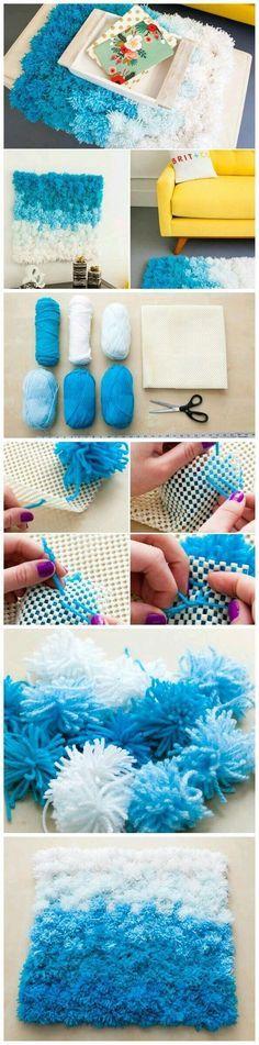 Cómo hacer alfombras de pompones