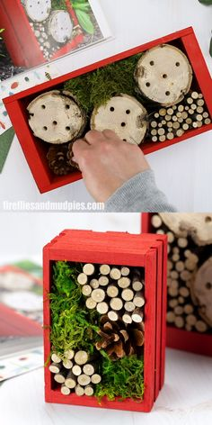 Learn how to make an easy and fun diy bug hotel with a wooden cd crate logs and other natural materials such as pine cones sticks moss and leaves it s the perfect summer craft for kids! bug hotel magnahook the ultimate magnet fishing tool Insect Crafts, Bug Crafts, Nature Crafts, Summer Crafts For Kids, Spring Crafts, Diy For Kids, Bug Hotel, Bug Houses For Kids, Hotels For Kids