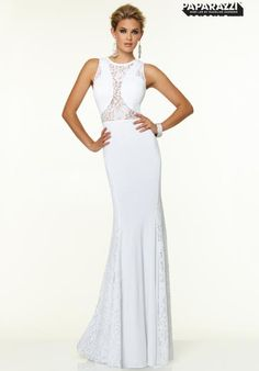 Mori Lee Sleeved Jersey Prom Dress 97123