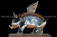 ice sculpture flying pig