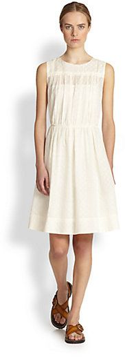 Sea lace and eyelet dress
