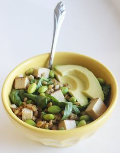 Pin for Later: Eat Clean and Green With This Edamame Barley Bowl