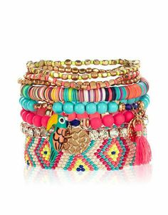 Colorful summery braclet