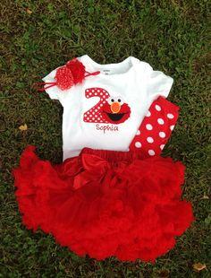 Red Elmo birthday outfit -1st 2nd birthday elmo shirt custom personalizedbirthday shirt Girl 2nd Birthday, Elmo Birthday Party Ideas, 1st Birthday Parties, Birthday Party Outfits, Birthday Shirts, Sesame Street Party, Sesame Street Birthday, Elmo Shirt, Elmo Party Decorations