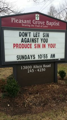 In your anger do not sin. Church Sign Sayings, Funny Church Signs, Church Humor, Funny Signs, Christian Jokes, Christian Faith, Bible Humor, Bible Lessons, Religious Quotes