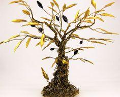 Olive Tree Sculpture Brass Tree Sculpture Handmade by LifeTreeArt