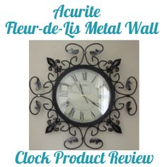 The 16-inch Fleur-de-Lis Metal Wall Clock from AcRuite is not only functional it's stylish. It's great for any room in your house.