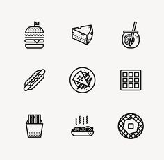 PIK NIK Icons by Oddds | Food Themed Pictogram Design