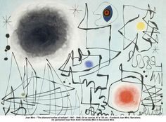 Artist: Joan Miro Title: The diamond smiles at twilight Date 1947-1948 Media: Oil on Canvas Size: 97x130cm