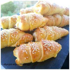 *Συνταγές απλές και εύκολες*: Κορνεδάκια (αλμυρά)! Χωρίς καλούπια-κολπάκι Pretzel Bites, Doughnut, Bread, Homemade, Desserts, Food, Deserts, Home Made, Dessert