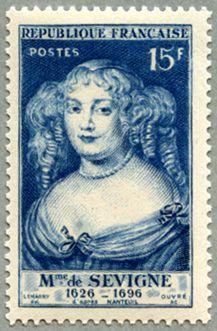 セヴィニエ夫人の切手なんてあるのね。