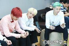 V, Jin and Rap Monster ❤ (behind the scenes of MBC Guerilla)