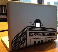 Tardis decal for MacBooks