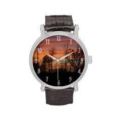 Orange Glow Sunset Wristwatch