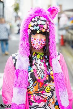 Yuan, a 17-year-old - Decora Girl With Hair Pins & Animal Hat