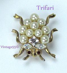 Vintage Trifari Ladybug Park Avenue by Vintage55 on Etsy, $89.00