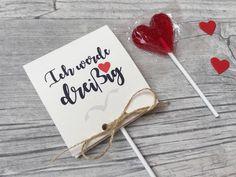 Einladungskarten - Einladung zum 30. 40. 50...Geburtstag mit Lollies  - ein Designerstück von Kunstundtext bei DaWanda