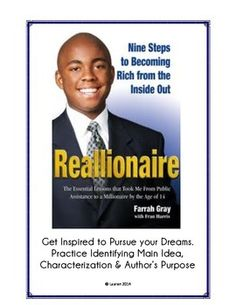 """Have students read this inspiring article about a """"regular"""" man who worked hard to become a millionaire. This article and accompanying guiding questions is perfect for the beginning of the year or at any time in the year when you want an engaging way for students to practice margin summaries, main idea, characterization and/or author's purpose.Your students will love things article (as mine did)!"""