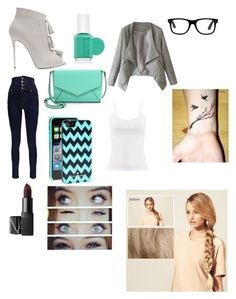 """#working#girl"" by manonvantwembeke on Polyvore featuring mode, Giuseppe Zanotti, Boohoo, Kate Spade, Essie, NARS Cosmetics et Hershesons"
