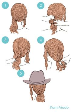 These cute hairstyles are so simple to do and can be done in just minutes! So easy hairstyles are the way forward. Cute Quick Hairstyles, Sweet Hairstyles, Kawaii Hairstyles, Weave Hairstyles, Pretty Hairstyles, Hairstyles Videos, Wedding Hairstyles, Hair Sketch, Hair Arrange