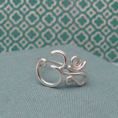 Om Ring in Sterling Silver by Laladesignstudio on Etsy, $45.00