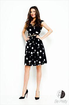 Hands On Hips, Model, Collection, Vintage, Black, Dresses, Style, Fashion, Vestidos
