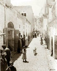 size: Art Print: Street Leading to Church of the Nativity Photograph - Bethlehem, Palestine by Lantern Press : Artists Palestine Art, Bethlehem Palestine, Terra Santa, Naher Osten, Nativity Church, Holy Land, Old City, Find Art, Middle East