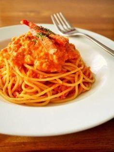 蟹のトマトクリームパスタ♪カニ缶を使った簡単レシピ|レシピブログ