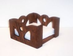 Napkin Holder made from Solid Oak for your Table Top by tomroche