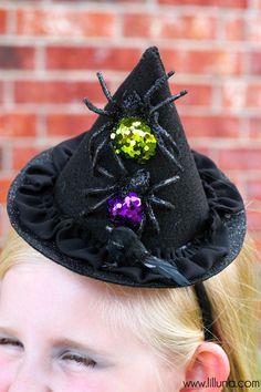 DIY Witch Hat Tutorial on { lilluna.com }