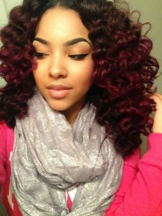 Curly-Girl-Revolution Ombre Hair Extensions Brazilian Remy Hair Deep Curly T1B-99J www.sishair.com info@sishair.com