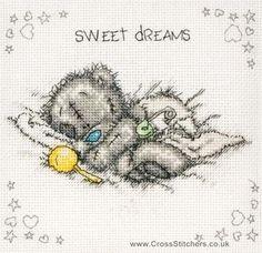 Birth Samplers - Sweet Dreams Birth Sampler - Tatty Teddy Cross Stitch Kit