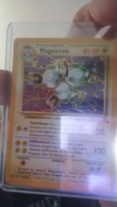 magneton base set holo Good condition card. 1995 11/62 Rare Pokemon, Conditioner, Base, Cards, Maps
