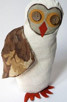 Vintage Fabric Owl