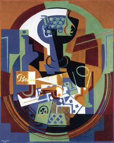 The Athenaeum - Fruit Dish and Playing Cards (Juan Gris - )