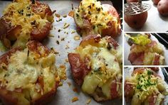 Home Cooking In Montana: Crushed New Potatoes.A New Favorite Side Dish Potato Recipes, Fish Recipes, Whole Food Recipes, Chicken Recipes, Cooking Recipes, Fondue Recipes, Cooking Bacon, Homemade Tacos, Homemade Taco Seasoning