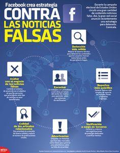 Facebook anunció recientemente una estrategia para detener las noticias falsas en esta red social. Descubre cuáles son las acciones que tomará en la #Infographic