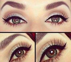 How should you do your makeup for prom? Get beauty inspiration from these flattering 12 easy and pretty prom makeup ideas for girls with green eyes. Prom Eye Makeup, Homecoming Makeup, Kiss Makeup, Cute Makeup, Pretty Makeup, Beauty Makeup, Hair Makeup, Eyeliner Makeup, Amazing Makeup