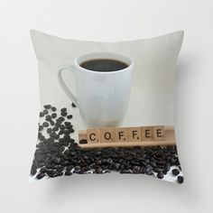 Coffee Decorative Throw Pillow Cover 18x18 by CrystalGaylePhoto, $35.00